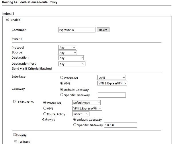 L2TP over IPsec VPN-Verbindung - DrayTek Vigor Router zu ExpressVPN
